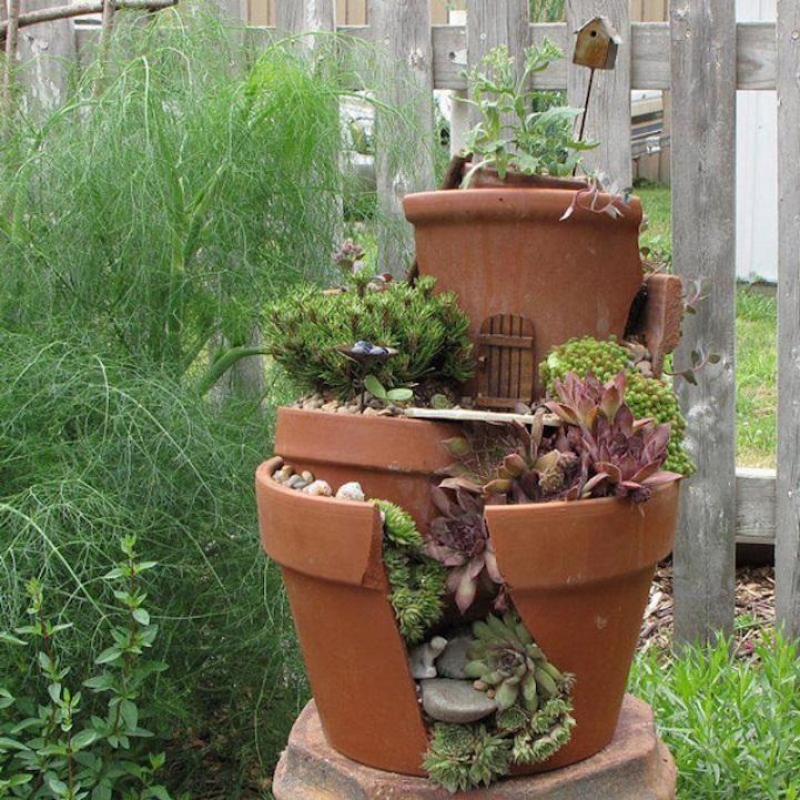 Favorito fai-da-te-vasi-rotti-riciclati-trasformati-giardini-fatati-06 - KEBLOG WP39