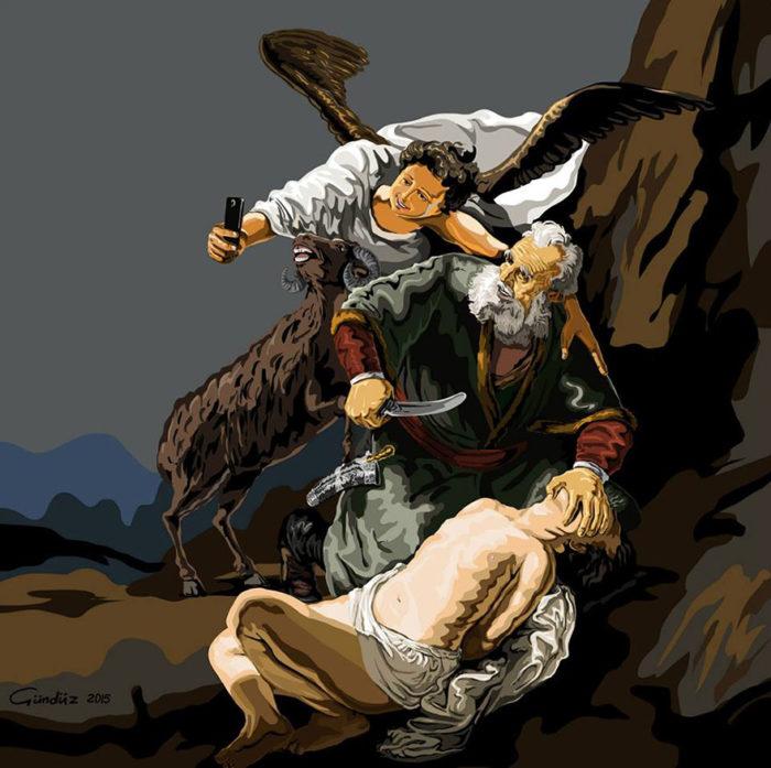 holy-selfie-illustrazioni-vignette-satiriche-caricature-religione-gunduz-agayev-1