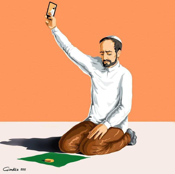 holy-selfie-illustrazioni-vignette-satiriche-caricature-religione-gunduz-agayev-2