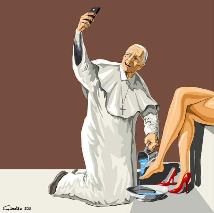 holy-selfie-illustrazioni-vignette-satiriche-caricature-religione-gunduz-agayev-8