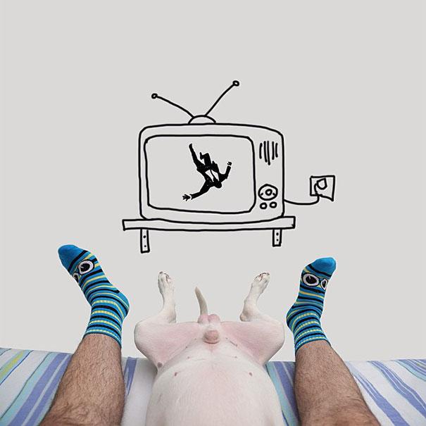 illustrazioni-divertenti-interattive-cane-jimmy-choo-rafael-mantesso-09