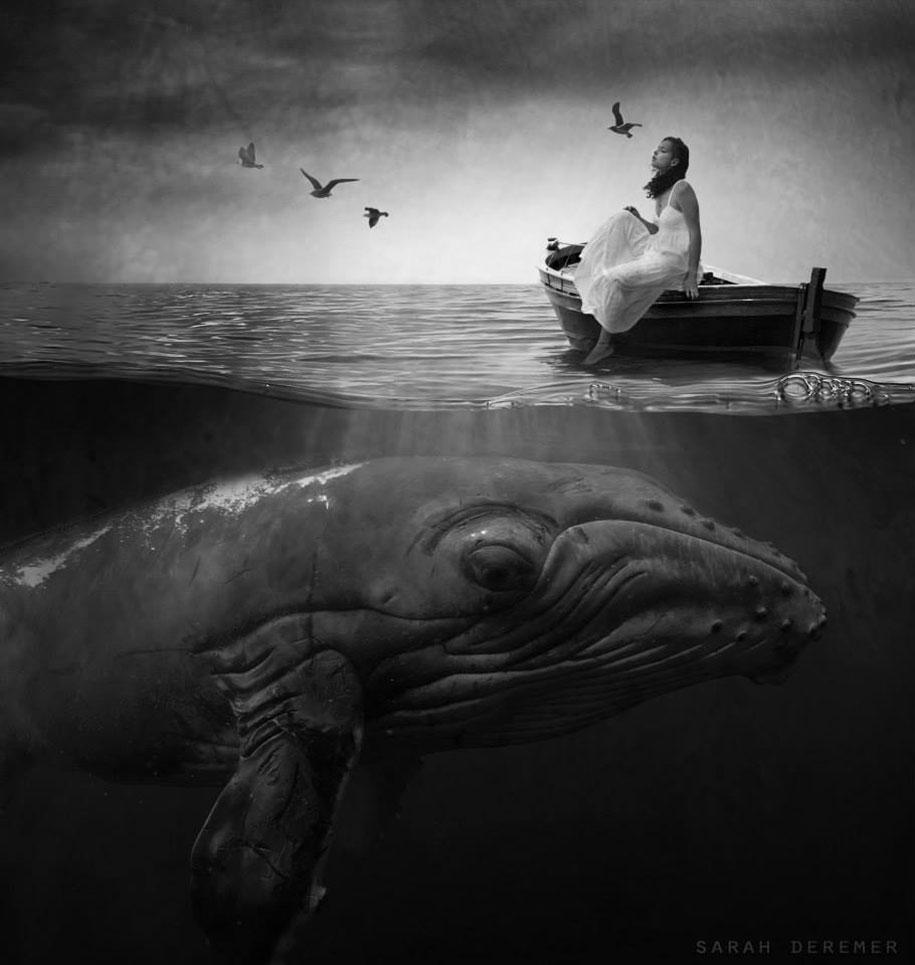 immagini-fotografia-surreale-bianco-e-nero-animali-ibridi-sarah-deremer-01