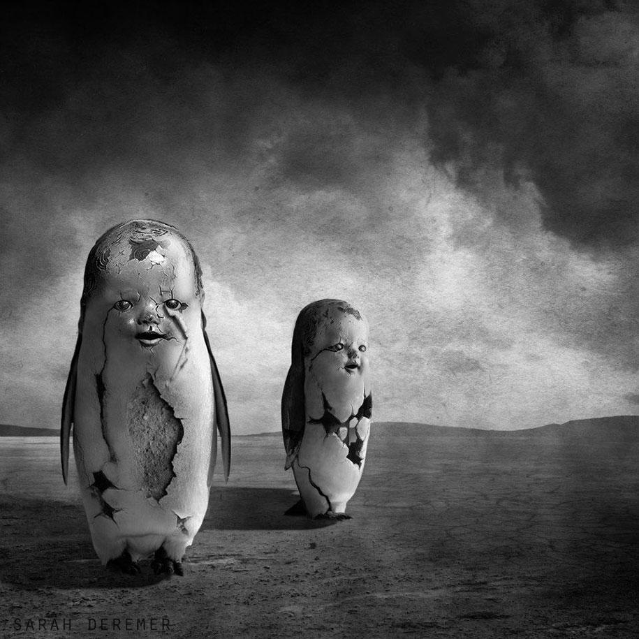 immagini-fotografia-surreale-bianco-e-nero-animali-ibridi-sarah-deremer-04
