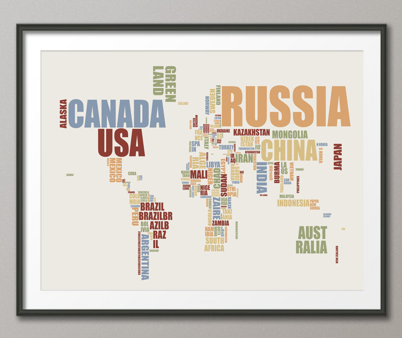 Mappa mondo artistica design stampe artpause 12 KEBLOG