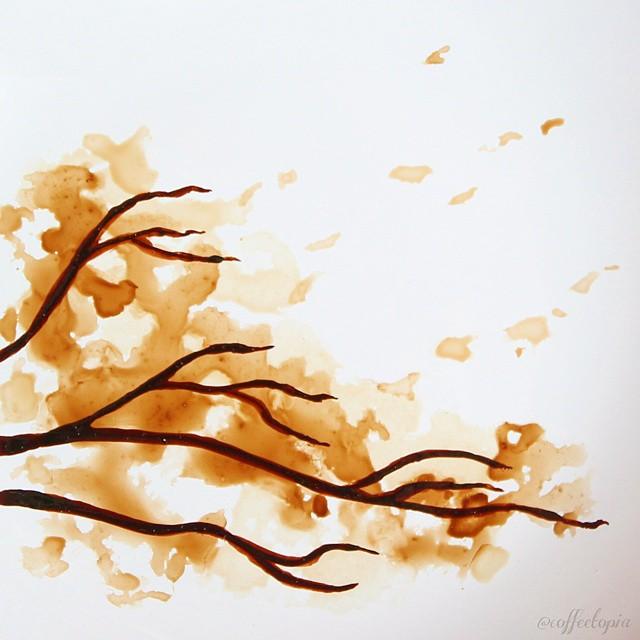pittura-caffè-foglie-secche-acquerelli-al-nizar-12