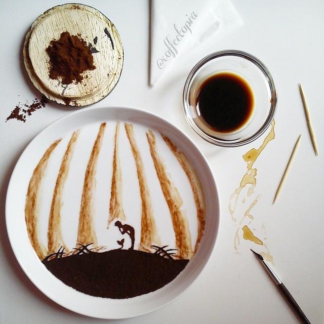 pittura-caffè-foglie-secche-acquerelli-al-nizar-13