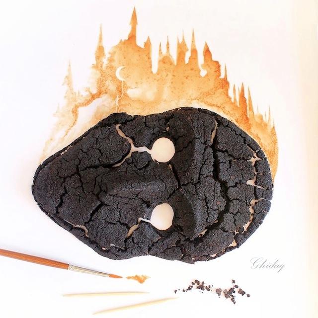 pittura-caffè-foglie-secche-acquerelli-al-nizar-16