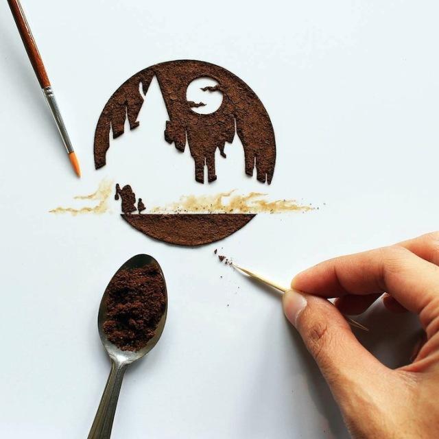 pittura-caffè-foglie-secche-acquerelli-al-nizar-17