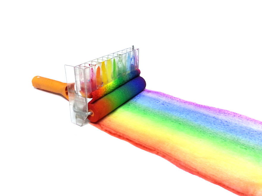 Un rullo per pitturare colorati arcobaleni fai da te sulle - Pitturare casa fai da te ...