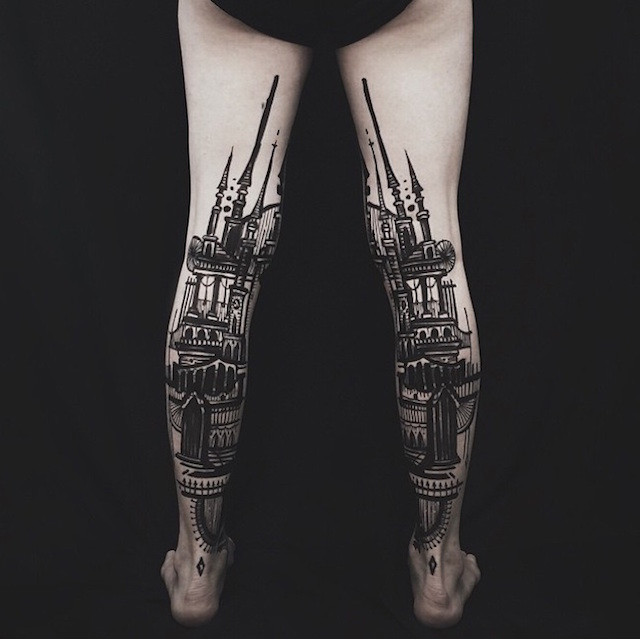 tatuaggi-artistici-dietro-le-gambe-dittici-paesaggi-architetture-thieves-of-tower-04
