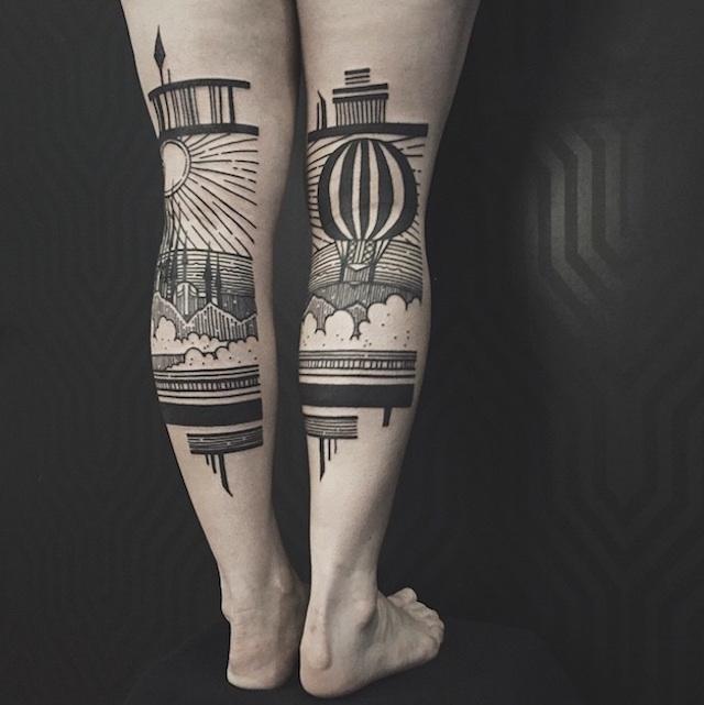 tatuaggi-artistici-dietro-le-gambe-dittici-paesaggi-architetture-thieves-of-tower-05