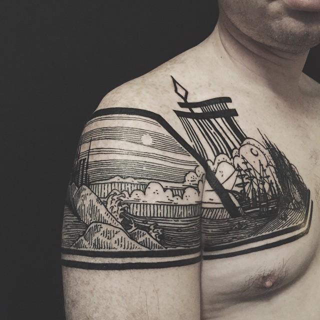 tatuaggi-artistici-dietro-le-gambe-dittici-paesaggi-architetture-thieves-of-tower-11