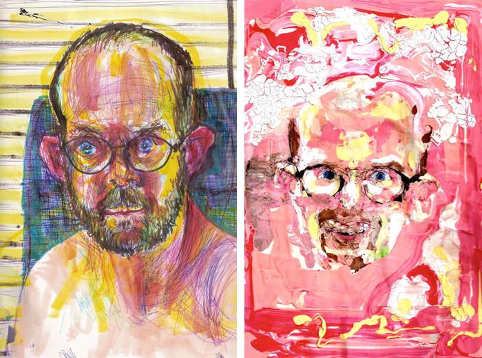 arte-autoritratti-sotto-effetto-droghe-bryan-lewis-saunders