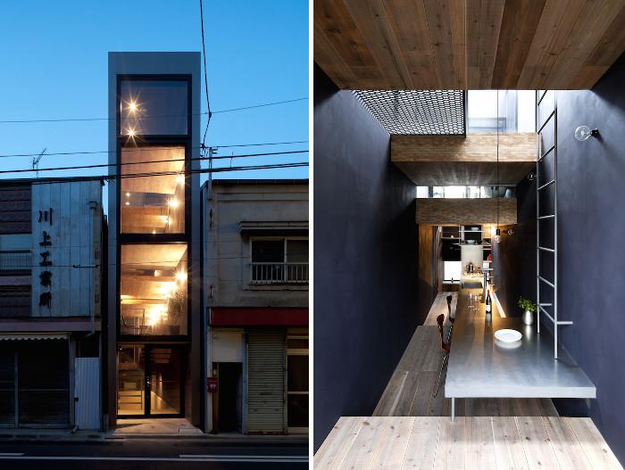 Una casa stretta 1 8m in giappone dal design minimalista for Una casa minimalista