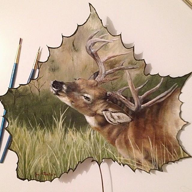 dipinti-su-foglie-spartiti-musicali-natura-janette-rose-1