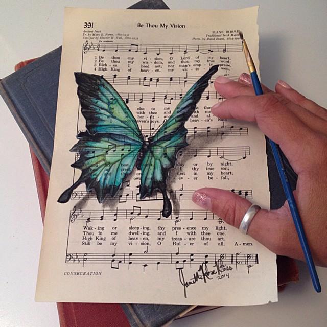 dipinti-su-foglie-spartiti-musicali-natura-janette-rose-6