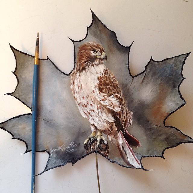 dipinti-su-foglie-spartiti-musicali-natura-janette-rose-8