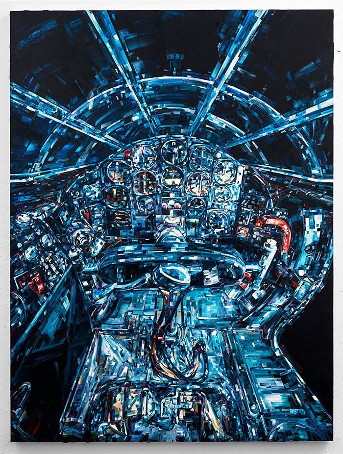 dipinti-uomo-nello-spazio-macchina-umani-arte-michael-kagen-8