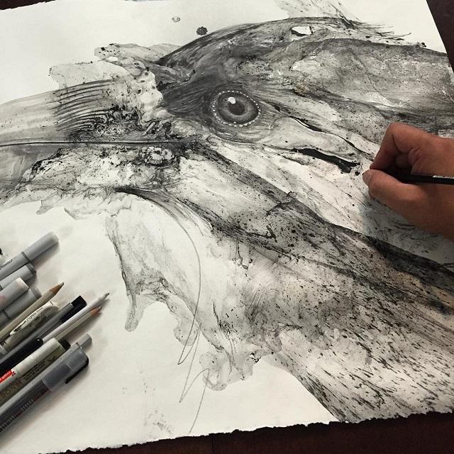 disegni-illustrazioni-animali-ritratti-macchie-caos-glen-ronald-04