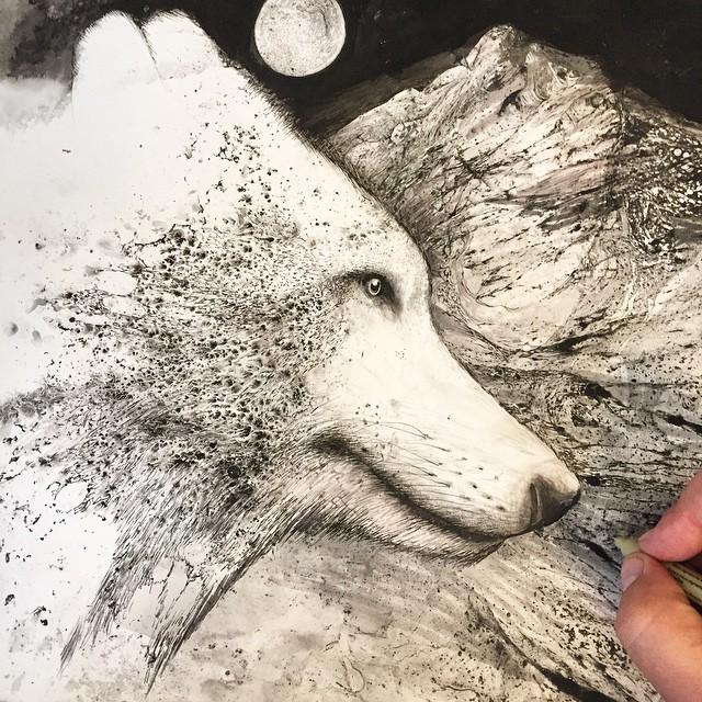 disegni-illustrazioni-animali-ritratti-macchie-caos-glen-ronald-10
