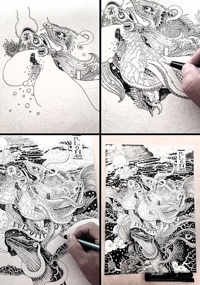illustrazioni-disegni-arte-tradizionale-cinese-rlon-wang-02-keb