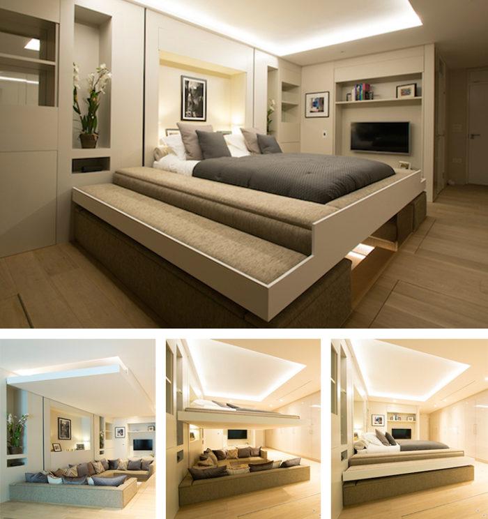 ... questa idea, date un'occhiata al letto sospeso di Wiktor Jażwiec