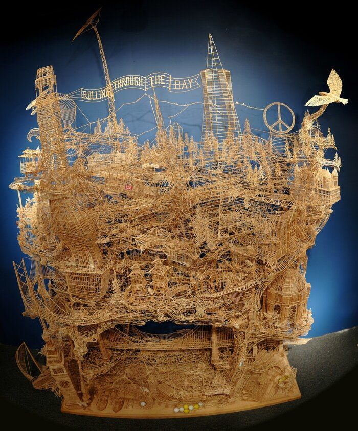 scultura-cinetica-di-stuzzicadenti-palline-pingpong-san-francisco-scott-weaver-1