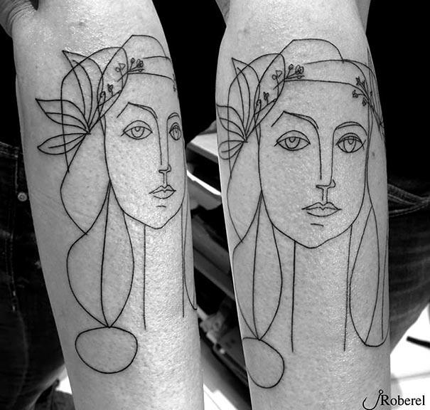 tatuaggi-minimalisti-arte-picasso-cubismo-12