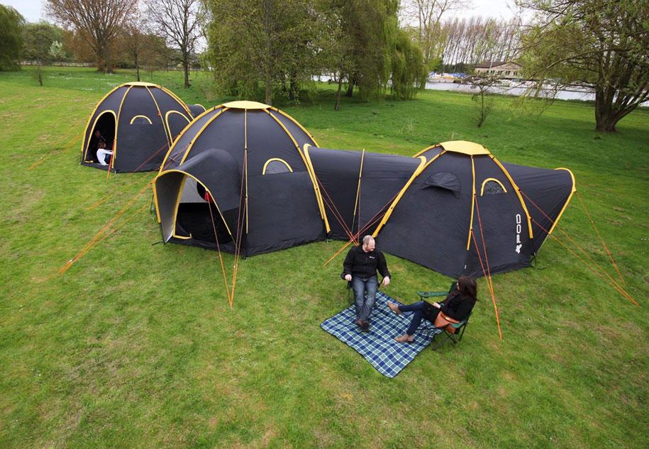 Le Tende Da Campeggio Modulari Pod Si Collegano Tra Loro