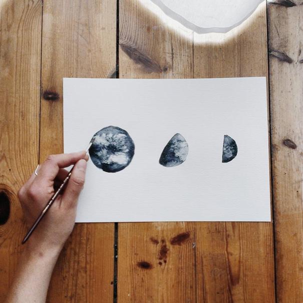 acquerelli-blu-monocromatici-luna-michal-friese-arte-1