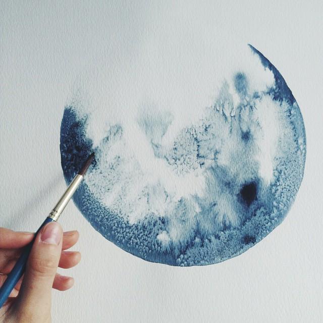 acquerelli-blu-monocromatici-luna-michal-friese-arte-2