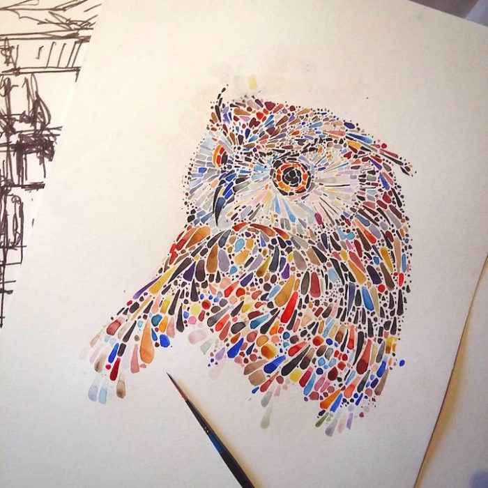 acquerelli-macchie-puntinismo-animali-ana-enshina-02