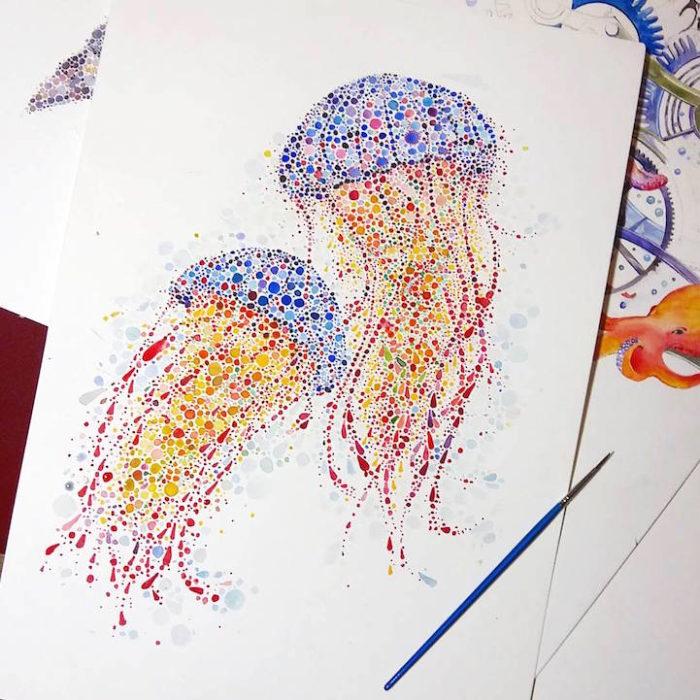 acquerelli-macchie-puntinismo-animali-ana-enshina-05