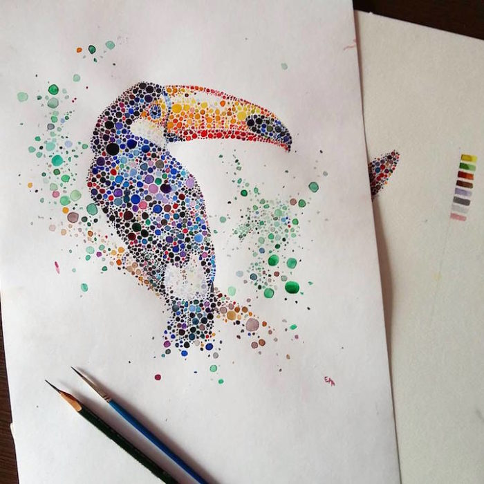 acquerelli-macchie-puntinismo-animali-ana-enshina-08