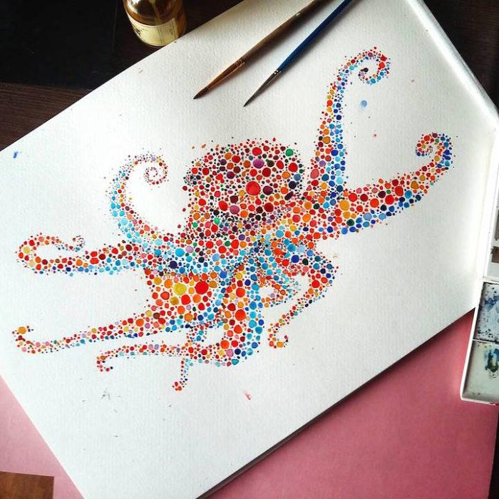 acquerelli-macchie-puntinismo-animali-ana-enshina-09