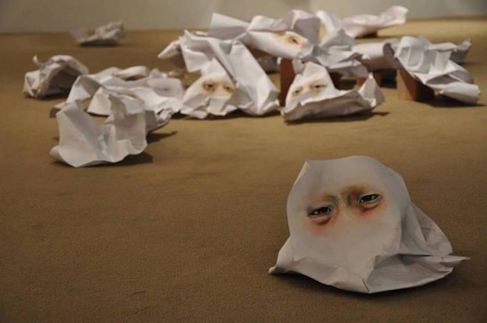 arte-scultura-installazione-acquerelli-carta-occhi-gookeyes-timothy-lee-4