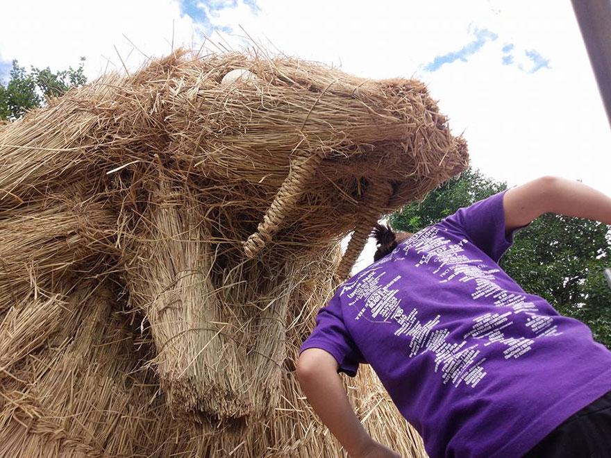 dinosauri-giganti-sculture-paglia-wara-art-festival-niigata-giappone-03