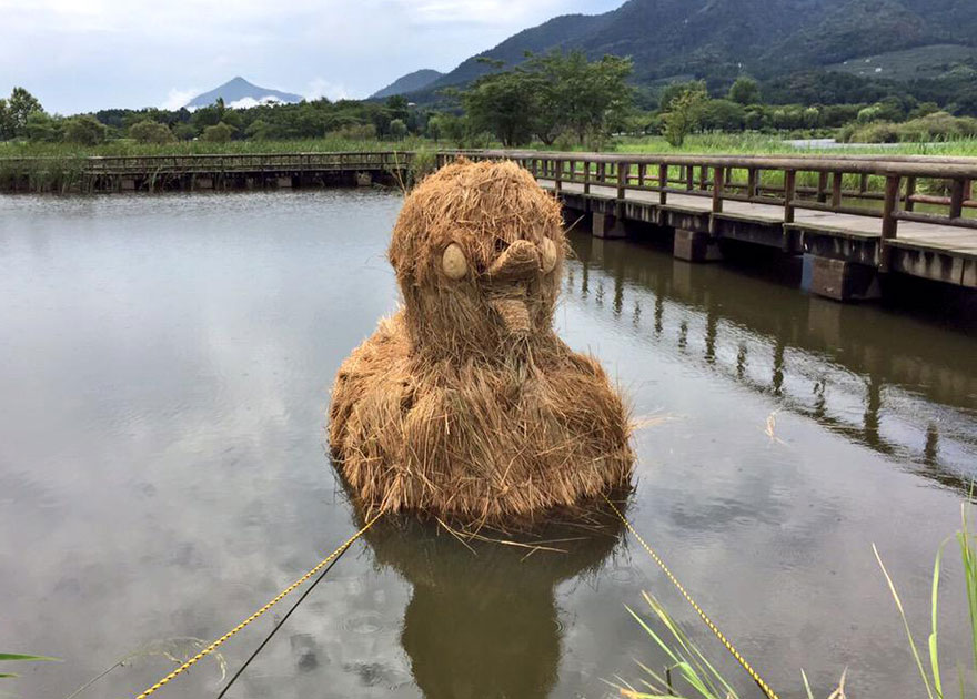 dinosauri-giganti-sculture-paglia-wara-art-festival-niigata-giappone-04
