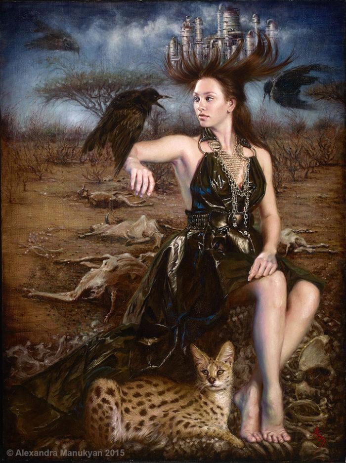 dipinti-surreali-olio-ambiente-inquinamento-arte-alezandra-manukyan-01