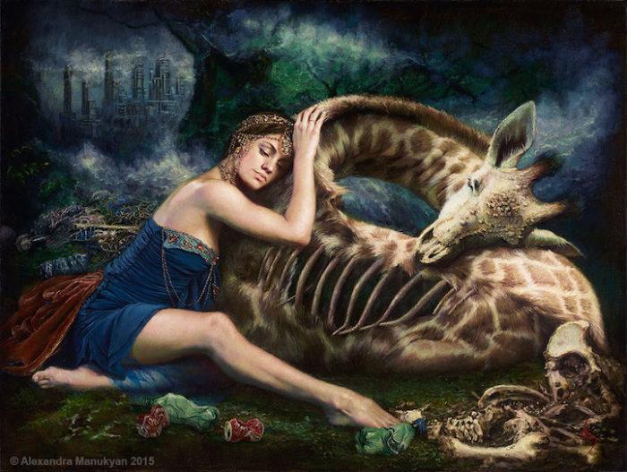 dipinti-surreali-olio-ambiente-inquinamento-arte-alezandra-manukyan-02