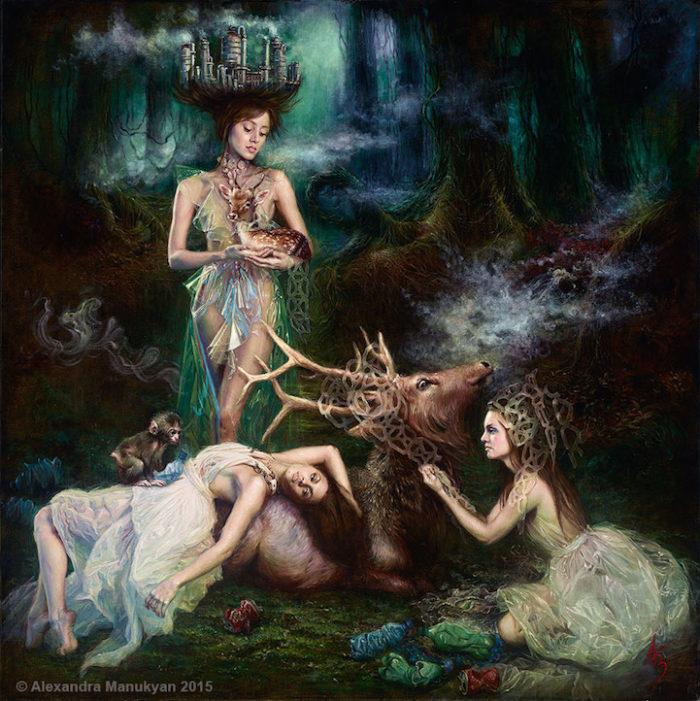 dipinti-surreali-olio-ambiente-inquinamento-arte-alezandra-manukyan-07