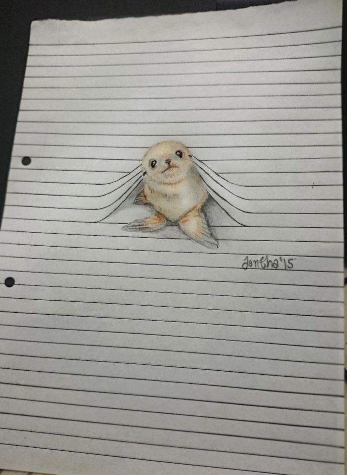 disegni-animali-righe-quaderno-iantha-naicker-1