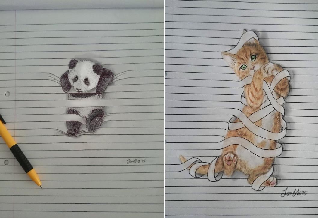 Graziosi disegni di animali che non vogliono stare tra le for Disegni a matita di cani