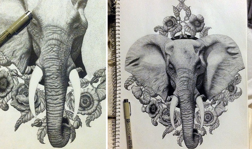 disegno-puntinismo-surreale-puntini-arte-kyle-leonard-01