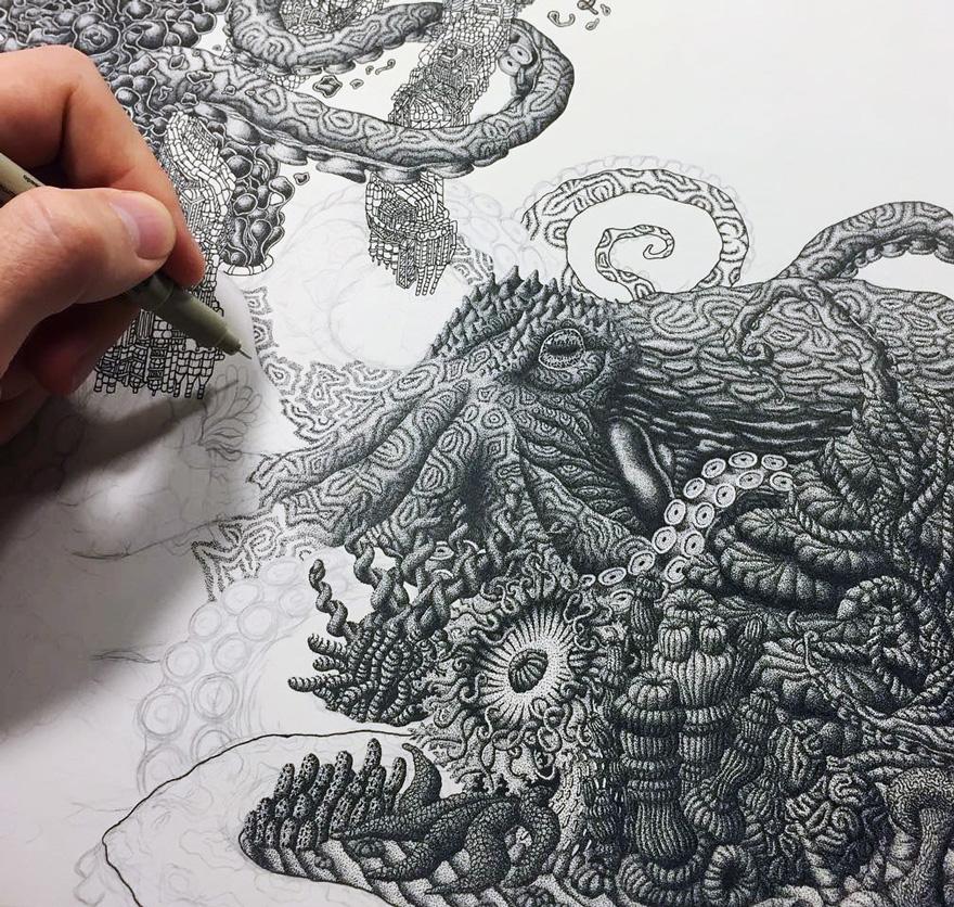 disegno-puntinismo-surreale-puntini-arte-kyle-leonard-02