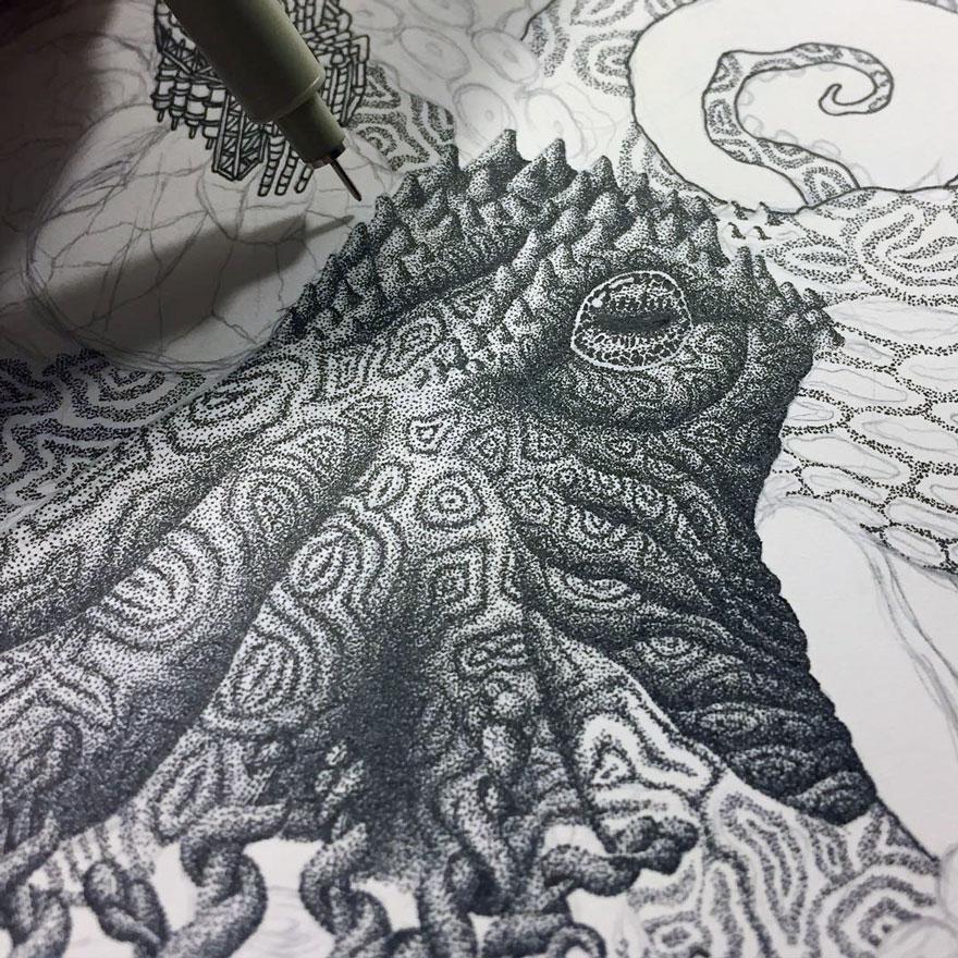disegno-puntinismo-surreale-puntini-arte-kyle-leonard-05
