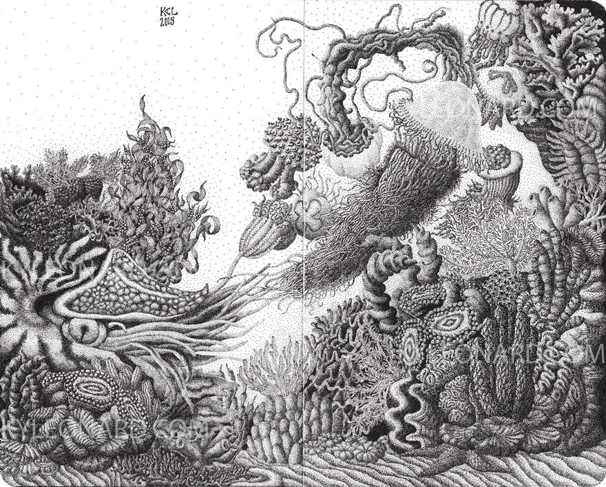 disegno-puntinismo-surreale-puntini-arte-kyle-leonard-06