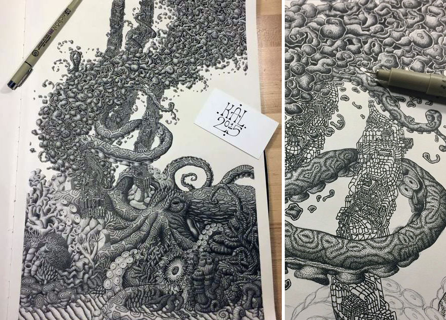 disegno-puntinismo-surreale-puntini-arte-kyle-leonard-07