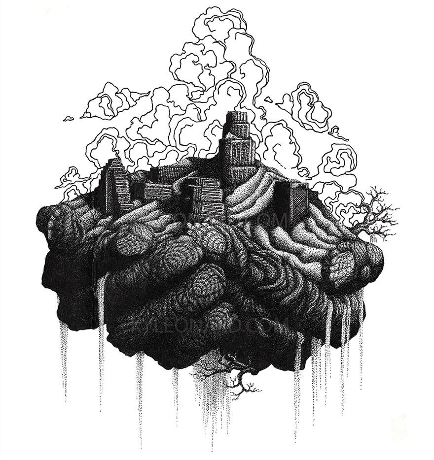 disegno-puntinismo-surreale-puntini-arte-kyle-leonard-09