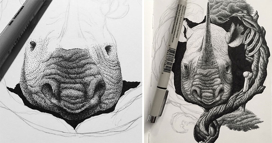 disegno-puntinismo-surreale-puntini-arte-kyle-leonard-10